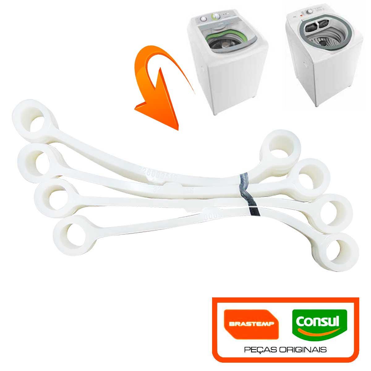 kit 4 Tirante 24 POL  Branco para Lavadoras Brastemp/Consul De 7 À 12 Kg 326000516