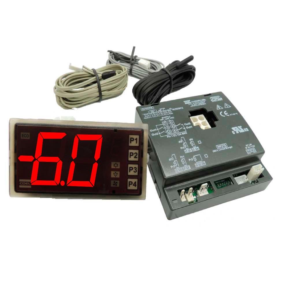 kit Controlador Termostato automático B05 Universal Coel Substituto Gelopar, Metalfrio, Fricon, Refrimate, Klima, Freeart Sereal, Esmaltec, Hussmann, Benax, Springer, Display P1 P2 P3 P4