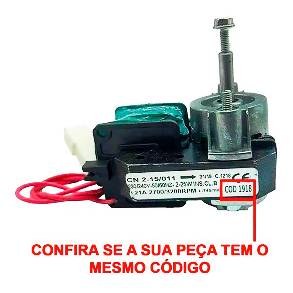 Micro Motor 1/100 220V 50/60 Hz Gelopar CN20 Rotação inversa 001918