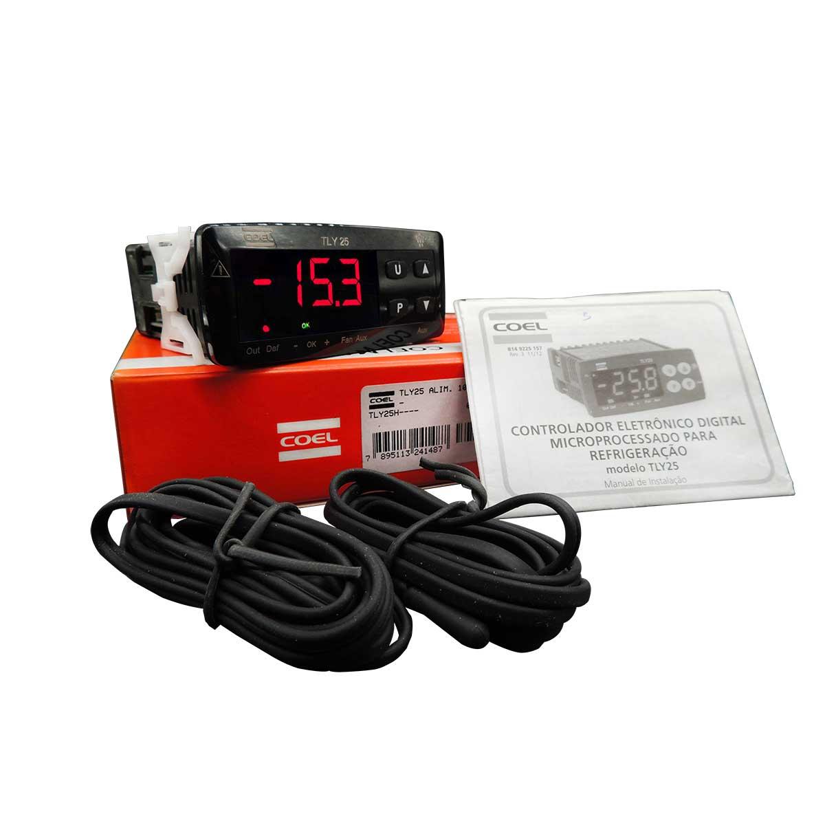 Módulo Display Controlador de temperatura e degelo Digital Para Refrigeração e Congelados TLY25H Coel