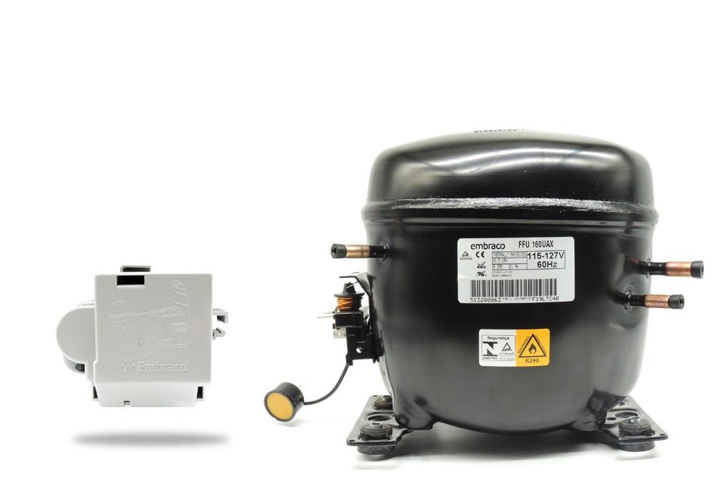 Motor Compressor  EMBRACO FFU160UAX 127V 60Hz R290  3038446 020213C010