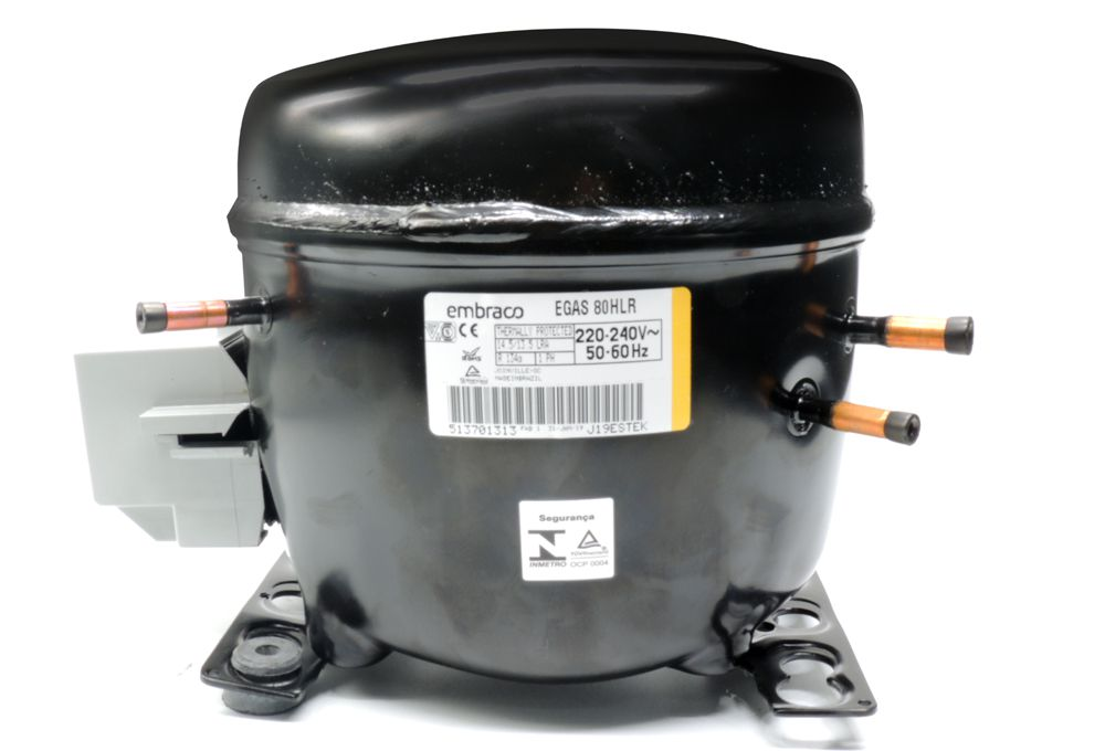 Motor de Geladeira / Compressor Embraco1/4+ EGAS80 220V Gás R134