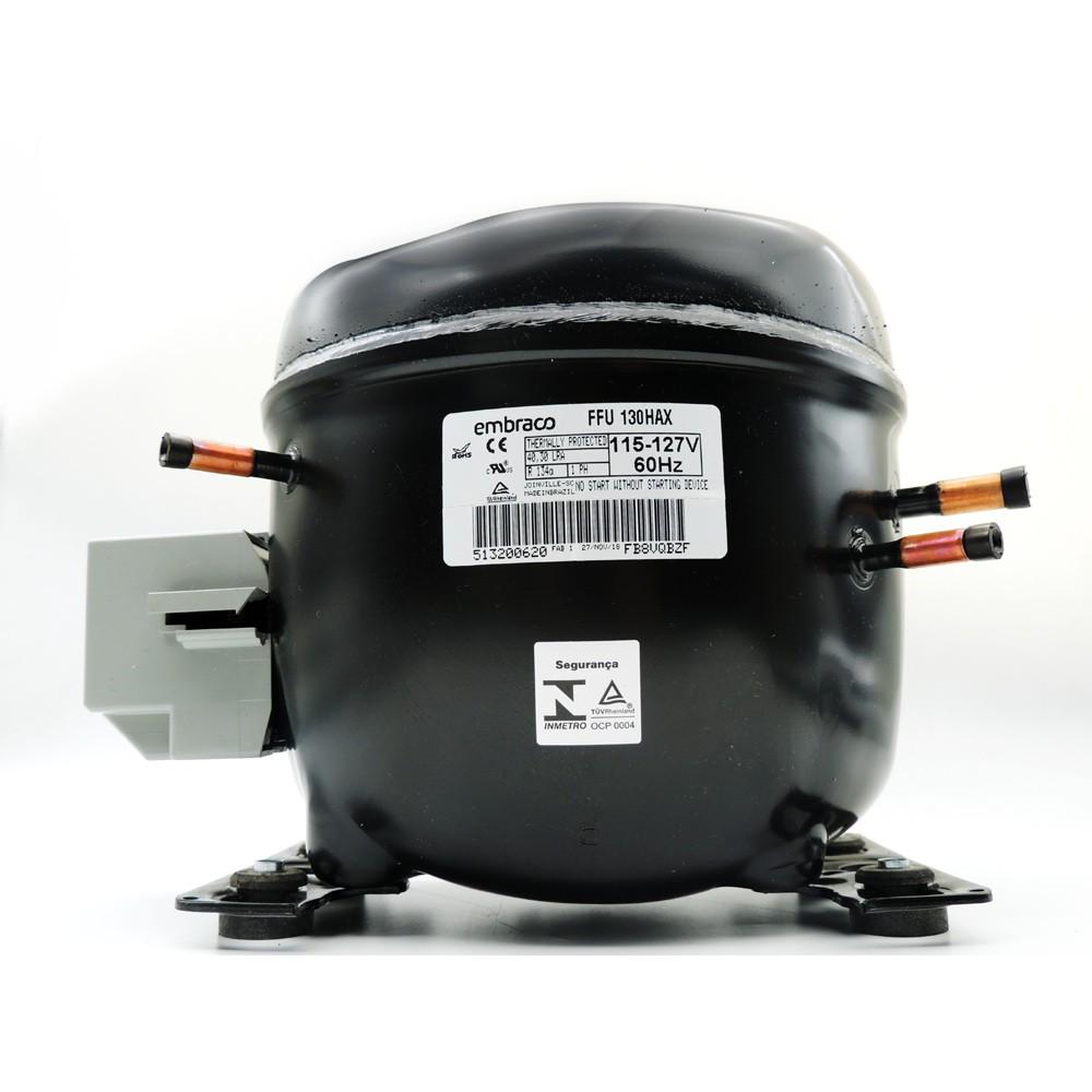 Motor de Geladeira / Compressor Embraco 1/3+ FFU130HAX 127V 60Hz 020113C557
