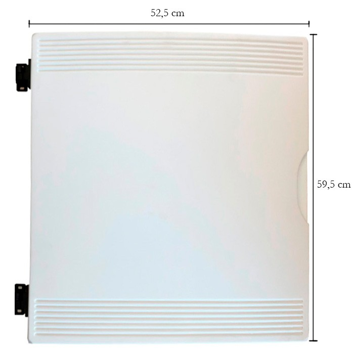 Porta para balcão expositor Gelopar  595X525 Dir. Branco GBER/GBSR 005823.01