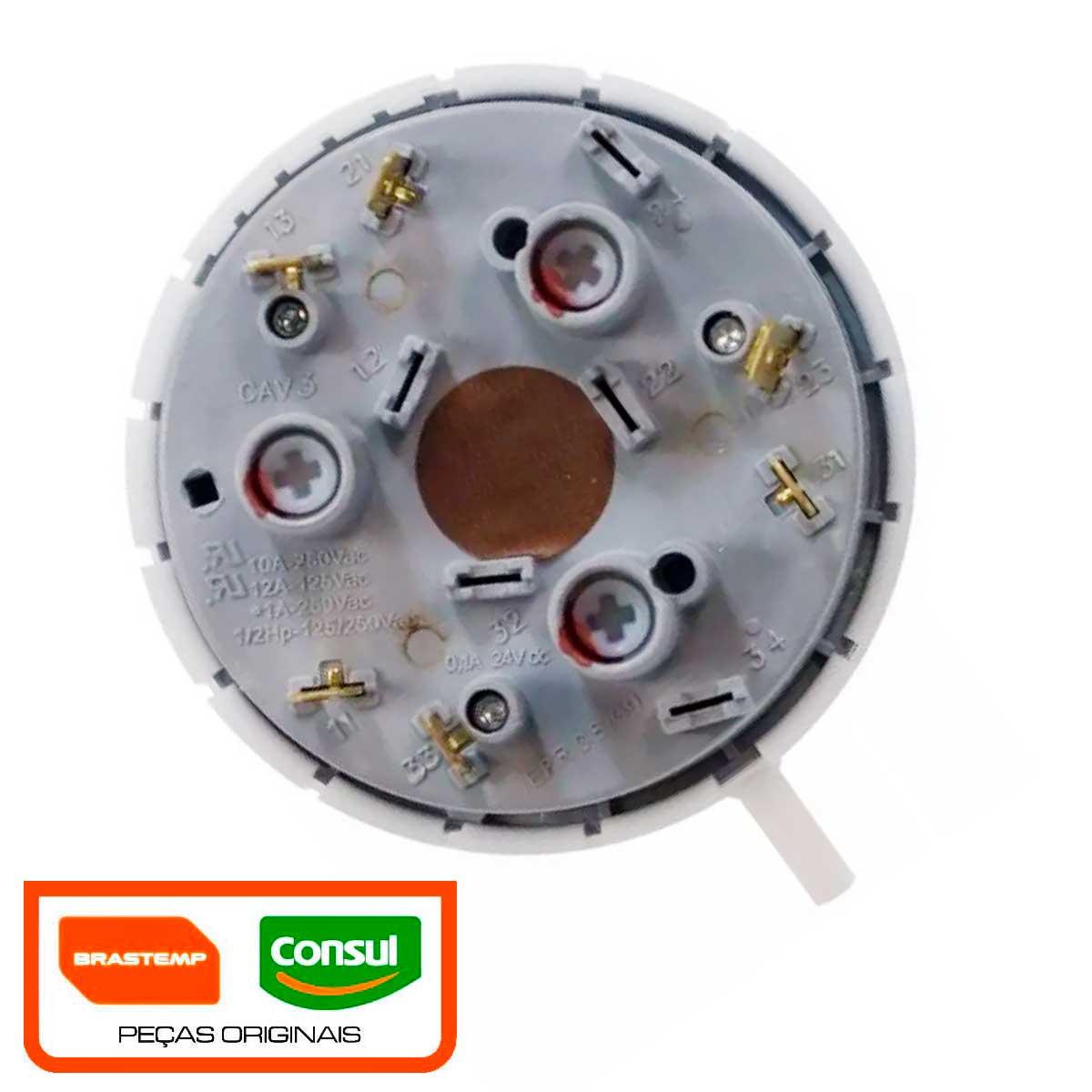 Pressostato Mecânico 3 níveis 5v Lavadora Brastemp11kg Bwl11 W10171528