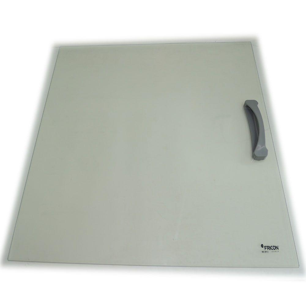Tampa de Vidro Reto para Freezer Frincon com Puxador Original HCE-503 73,2 X 57,2  09.5167