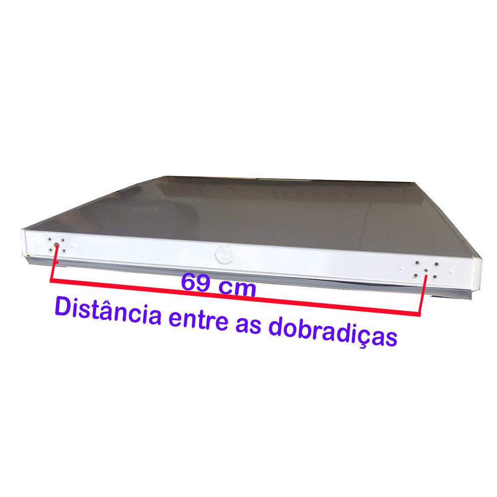 Tampa do freezer metalfrio DA55  antigo  82,5x63 090139T459