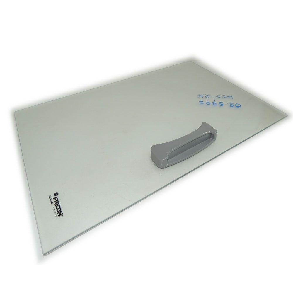 Tampas de Vidro Reto para Freezer Fricon HCEB216 HCE216 Original 57,4 X 35,6 cm 09.5797