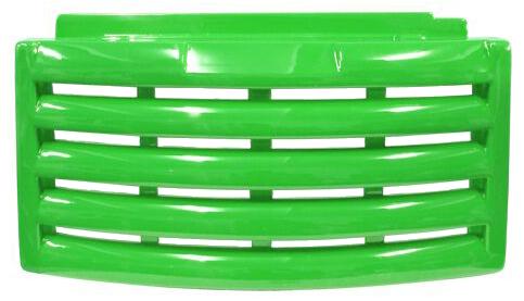 veneziana / carenagem/ roda pé/ saia metalfrio, cor verde claro