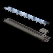 Ralo Linear Versatille Tampa Inox 75cm Elleve