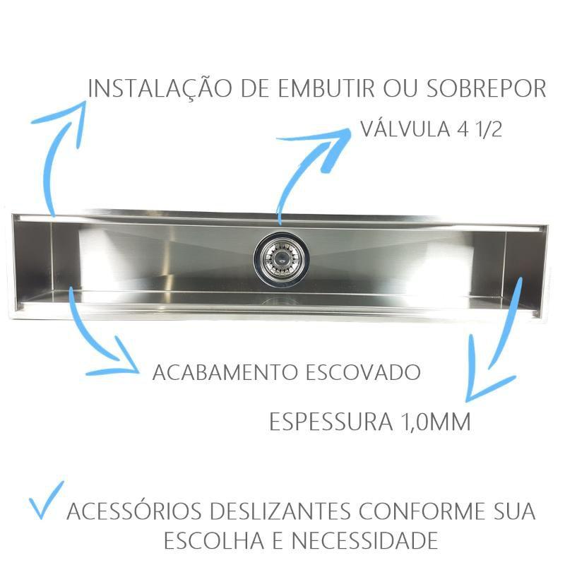 Canal Úmido 105cm Com 4 Acessorios  - DOTEC SHOP