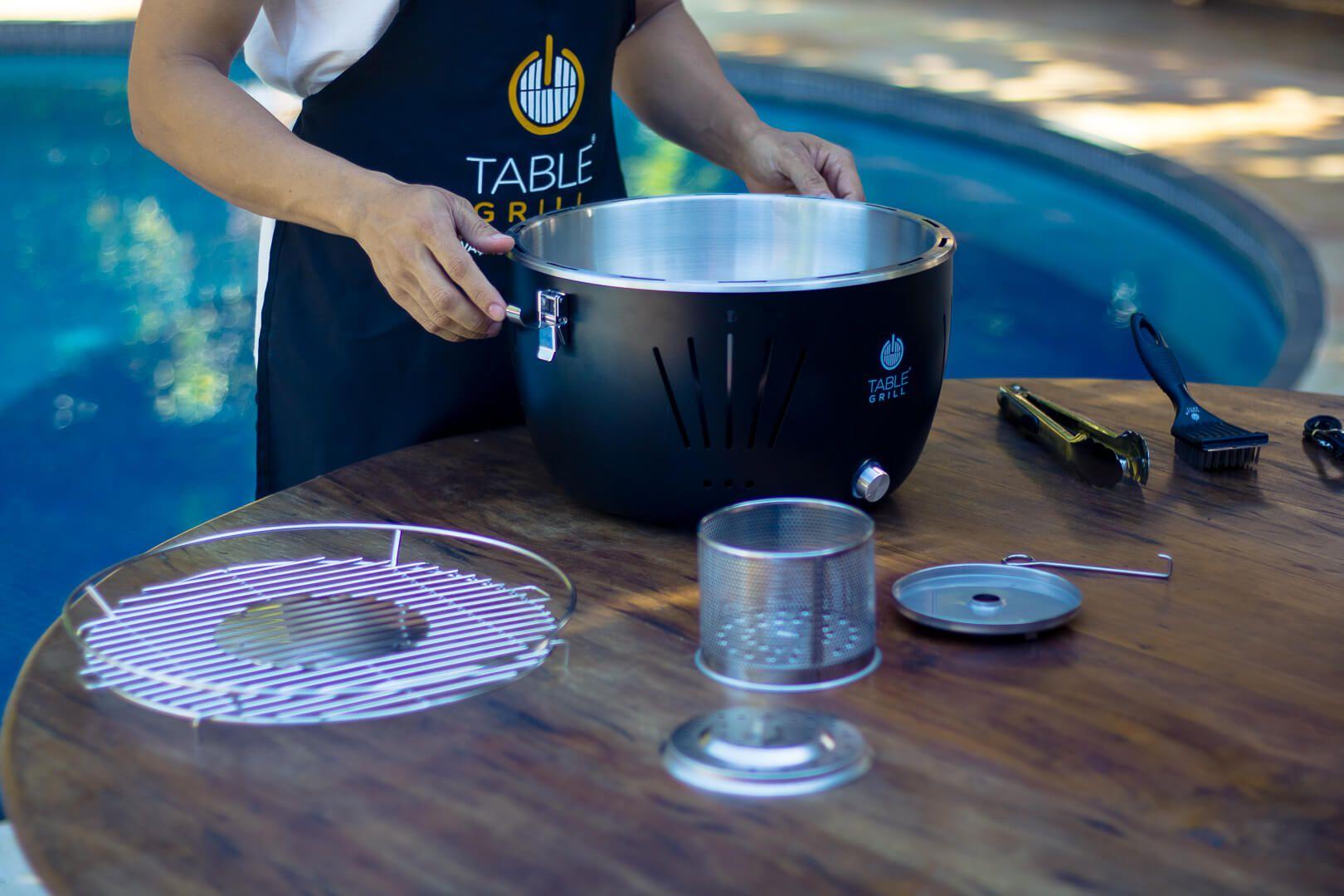 CHURRASQUEIRA DE MESA A CARVAO TABLE GRILL  - DOTEC SHOP