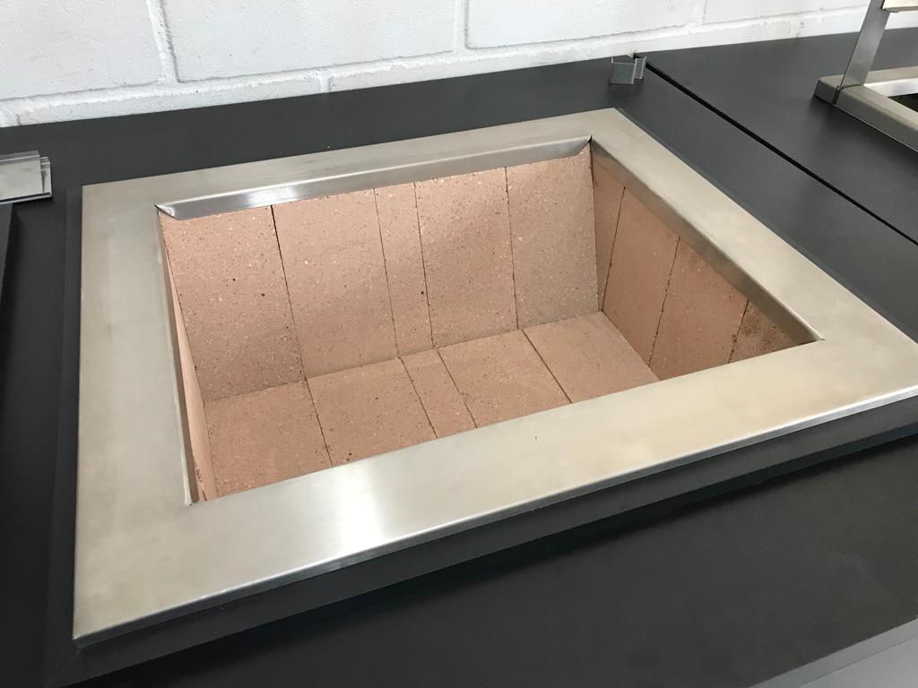 Churrasqueira Inox a Carvão Premium Com Braseiro e Grelha Master Corte a Laser  - DOTEC SHOP