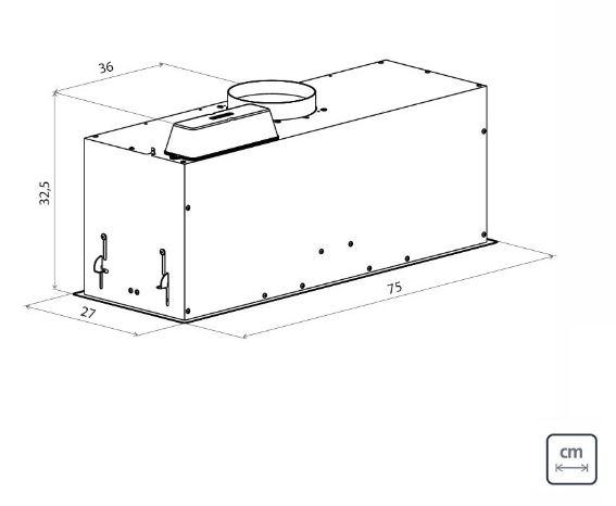 Coifa Tramontina Inox De Embutir Incasso 75 127V  - DOTEC SHOP