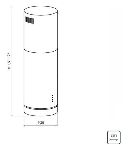 Coifa Tramontina Inox Tube Isla 35cm 220v  - DOTEC SHOP