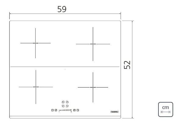 Cooktop Tramontina Indução Square Slider B 4EI 220w  - DOTEC SHOP