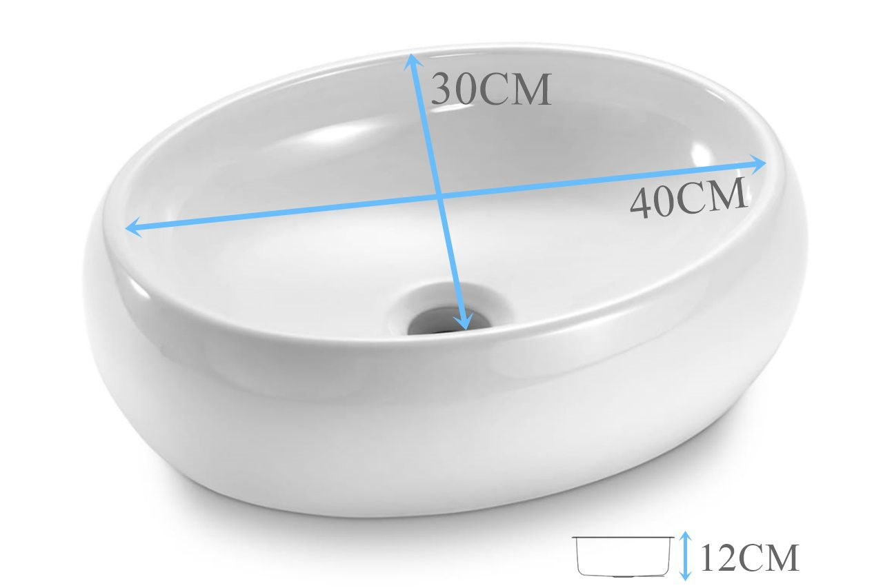 Cuba de Apoio Oval 40x30x12cm  - DOTEC SHOP