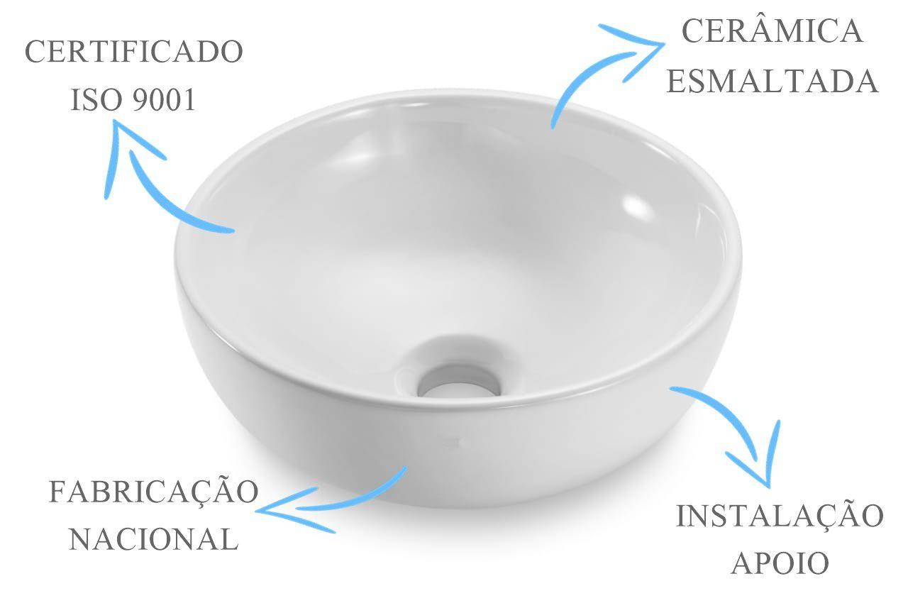 Cuba de Apoio Redonda 30X12cm  - DOTEC SHOP