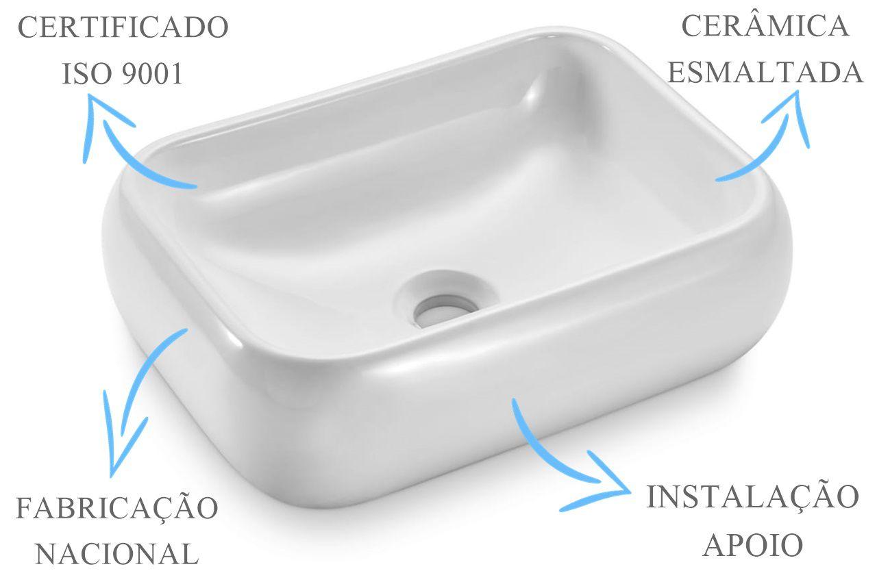 Cuba de Apoio Retangular 41x31x12cm  - DOTEC SHOP