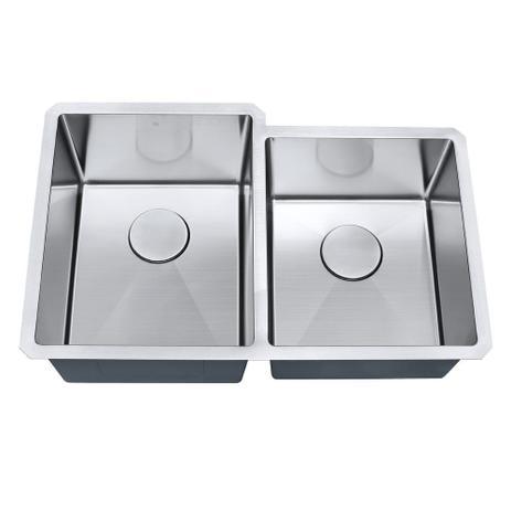 Cuba de cozinha aço inox 1mm escovado S201 77,5x50,8x22,9cm  - DOTEC SHOP