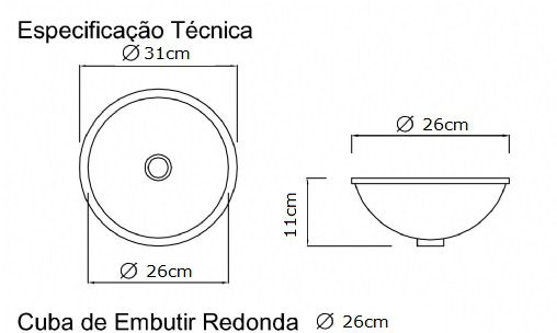 Cuba de embutir Redonda Pequena  - DOTEC SHOP