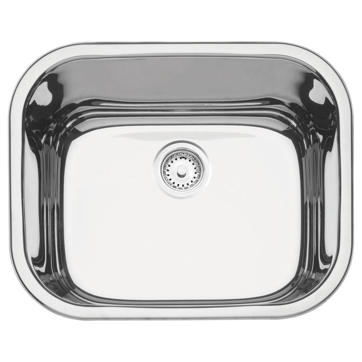 Cuba de embutir/sobrepor Tramontina Aria Maxi 50 BS em Aço Inox Polido 50x40 cm  - DOTEC SHOP