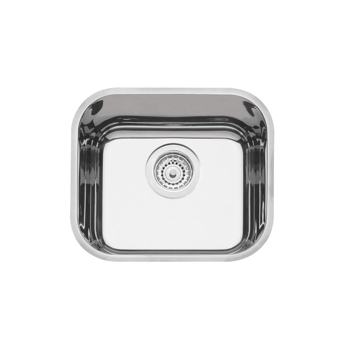 Cuba de embutir Tramontina Lavínia 40 BL em Aço Inox Alto Brilho 40x34 cm  - DOTEC SHOP