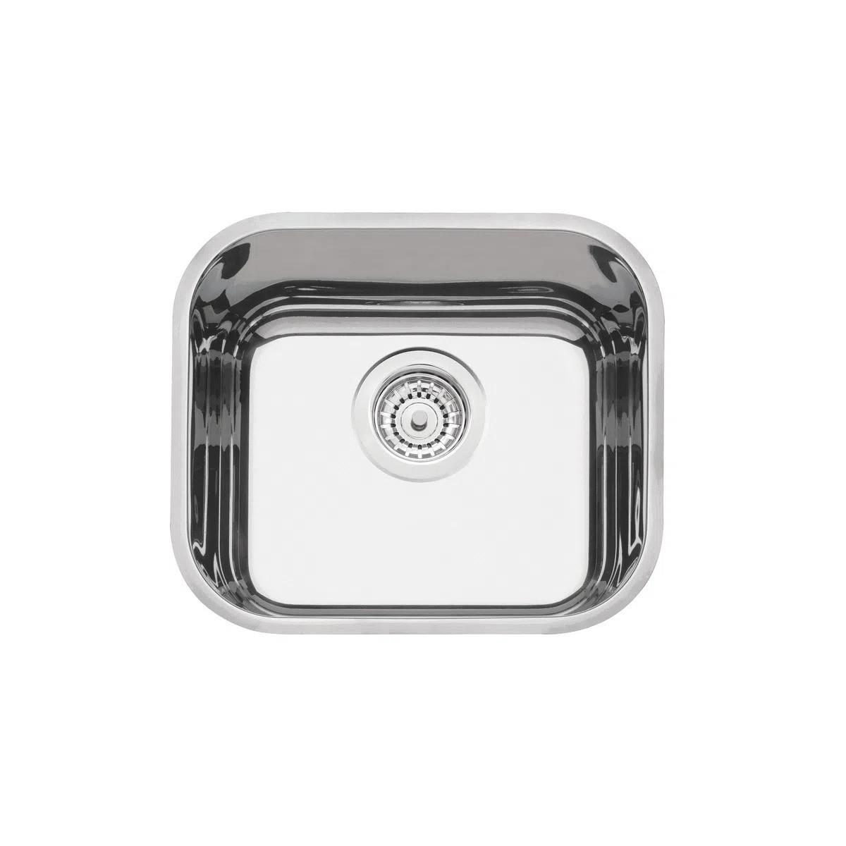 Cuba de embutir Tramontina Lavínia 40 BL em Aço Inox Polido 40x34 cm  - DOTEC SHOP