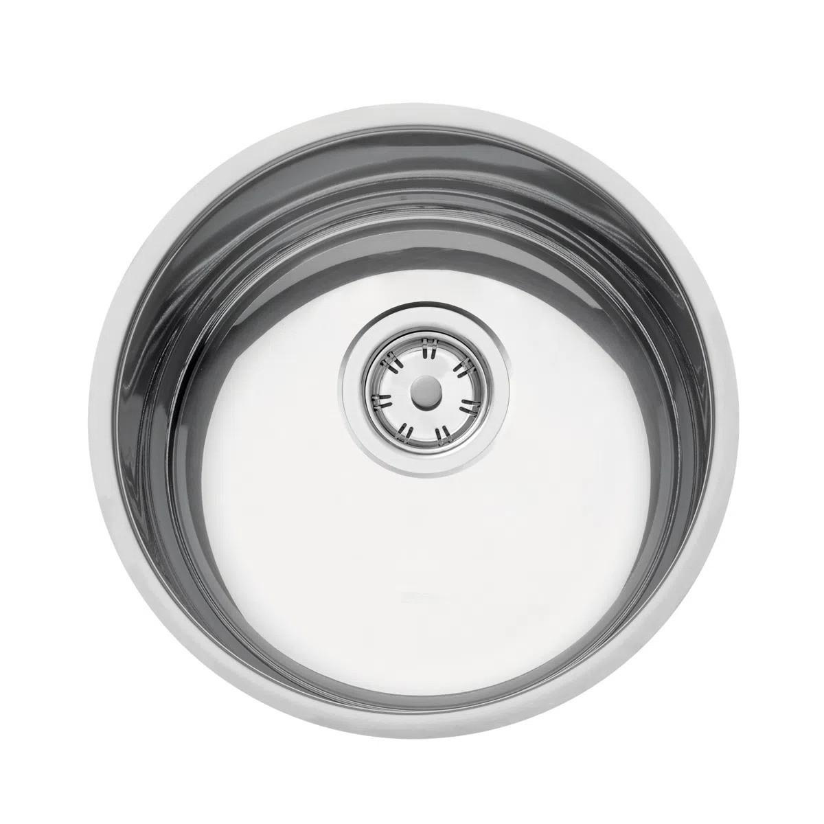 Cuba de embutir Tramontina Luna 30 BL em Aço Inox Polido 30 cm  - DOTEC SHOP