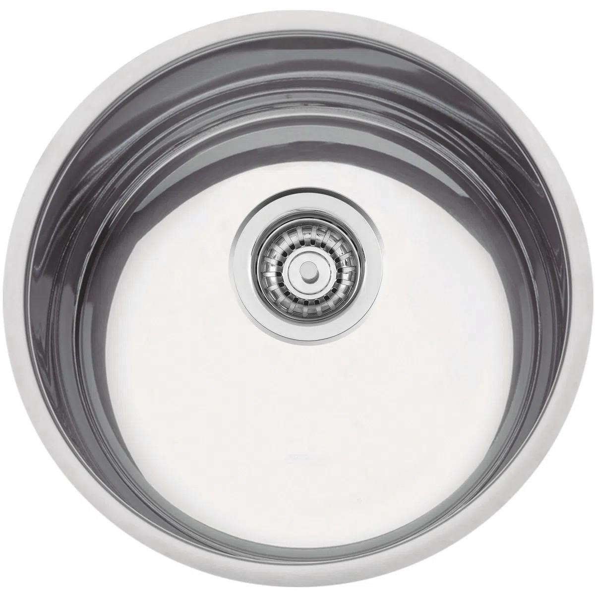 Cuba de embutir Tramontina Luna 30 BL em Aço Inox Polido Ø 30cm  - DOTEC SHOP