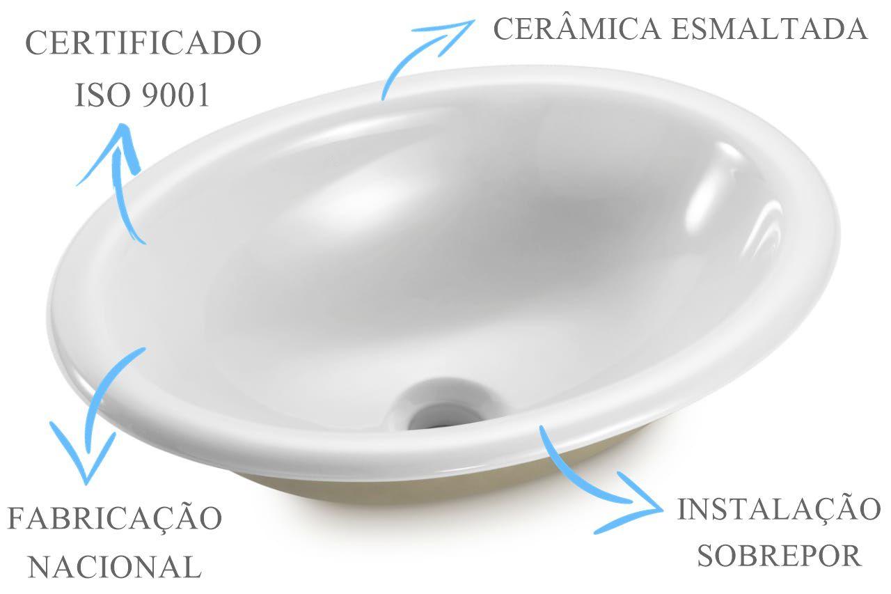 Cuba de Sobrepor Oval 44x33x15cm  - DOTEC SHOP