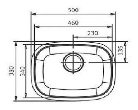 Cuba Franke Essenza N1 460 Acetinada 46x30x18cm 50153  - DOTEC SHOP