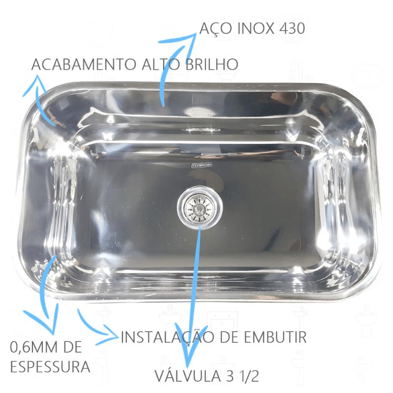 Cuba Inox N2 56x34x17cm  - DOTEC SHOP