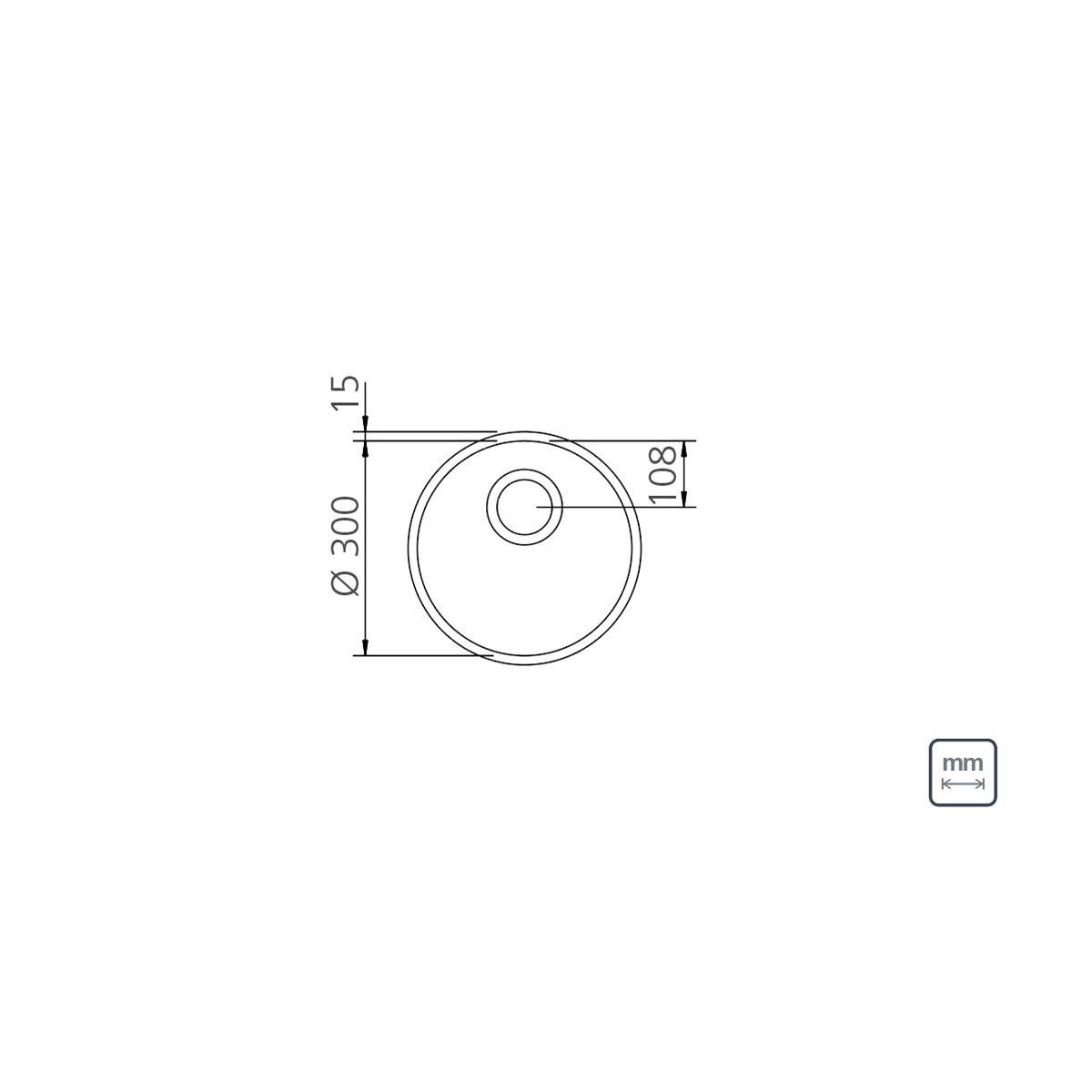Cuba Inox Redonda de 30cm Tramontina Prime  - DOTEC SHOP