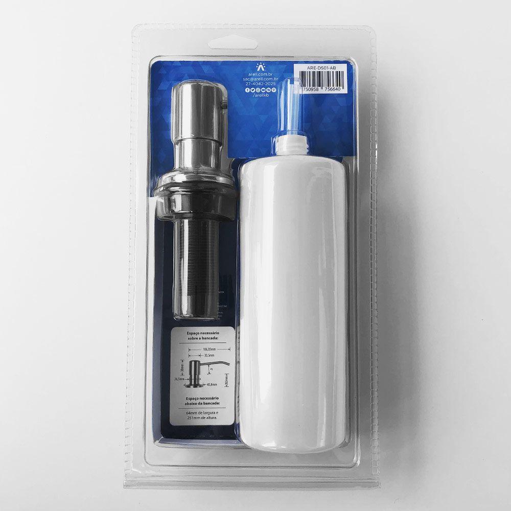 Dosador de Sabão Arell Alto Brilho 500ml  - DOTEC SHOP