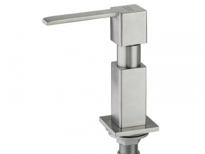 Dosador de Sabão Quadrado Escovado  - DOTEC SHOP