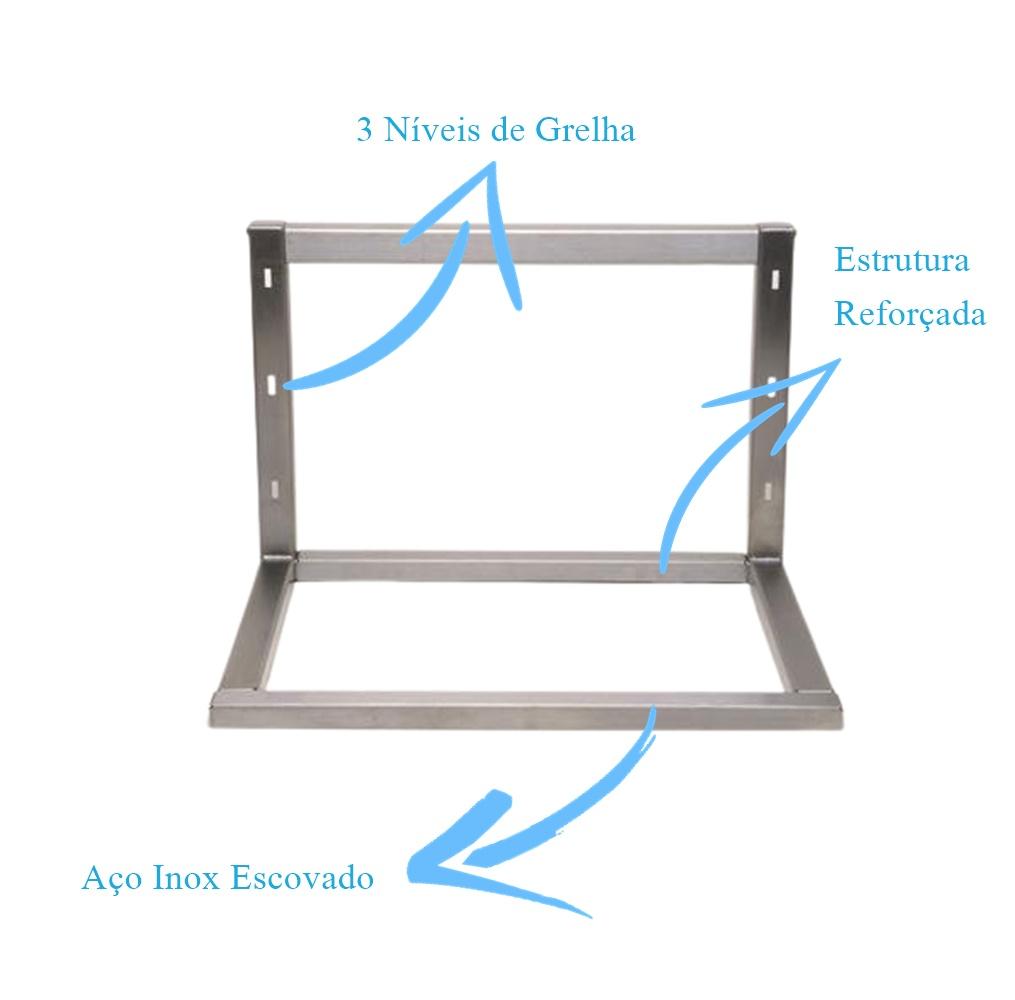 Estrutura Clean em Inox Para Braseiro Cooktop  - DOTEC SHOP