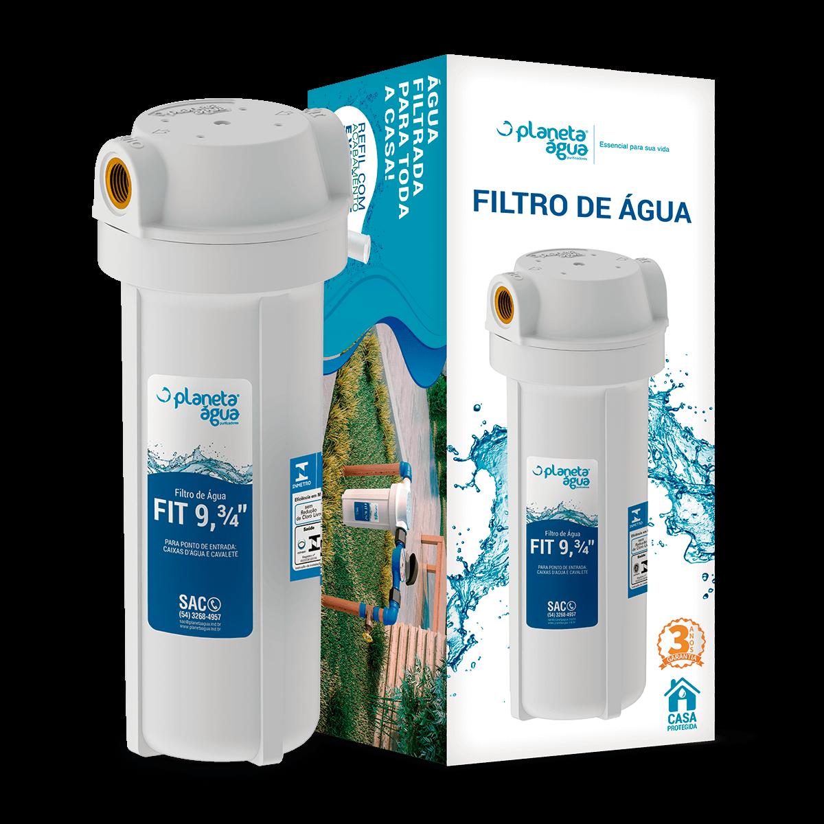 "Filtro Purificador De Água Para Caixa Dágua Cavalete 9"" 3/4   - DOTEC SHOP"