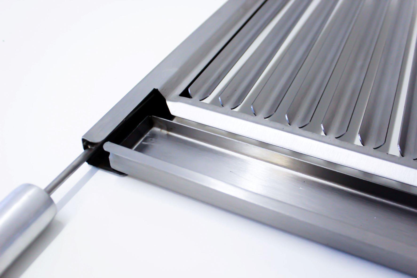 Grelha Gourmet Argentina em Inox Escovado Corte a Laser com Cabo de Alumínio Para Kit Clean  - DOTEC SHOP