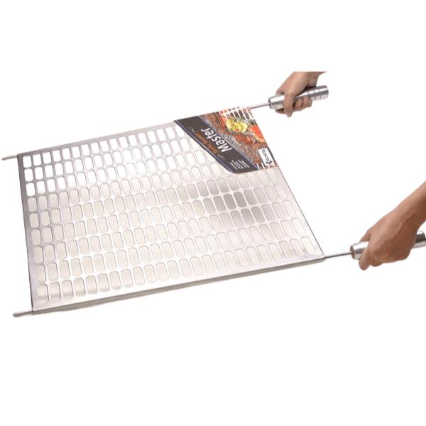 Grelha Gourmet Master em Inox Escovado Corte a Laser com Cabo de Alumínio Para Kit Clean  - DOTEC SHOP