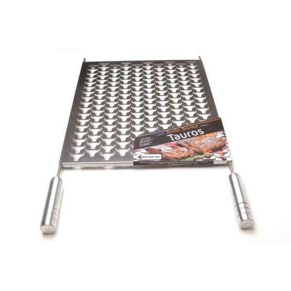 Grelha Gourmet Tauros em Inox Escovado Corte a Laser com Cabo de Alumínio  - DOTEC SHOP