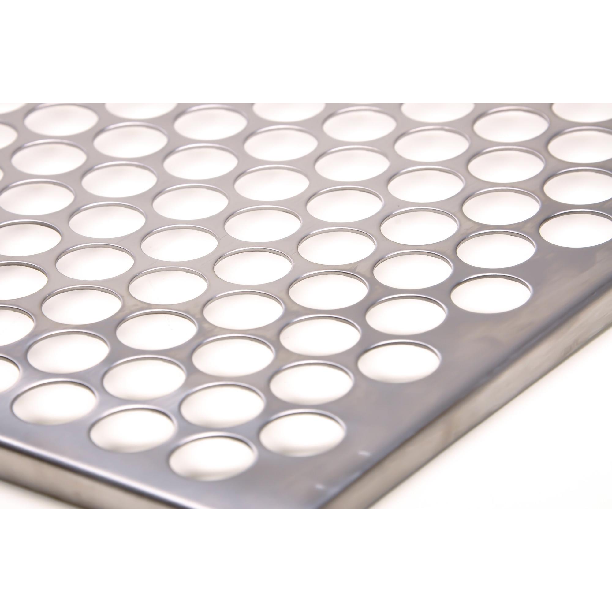 Grelha Gourmet Tradicional Moeda em Inox Escovado Corte a Laser com Cabo de Alumínio