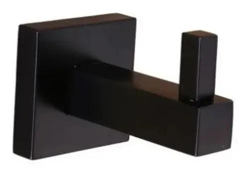 Kit de Acessórios Para Banheiro em Metal Quadrado Black Matte 5 Pecas  - DOTEC SHOP