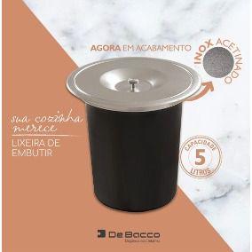 Lixeira de Embutir Debacco 5 litros  - DOTEC SHOP