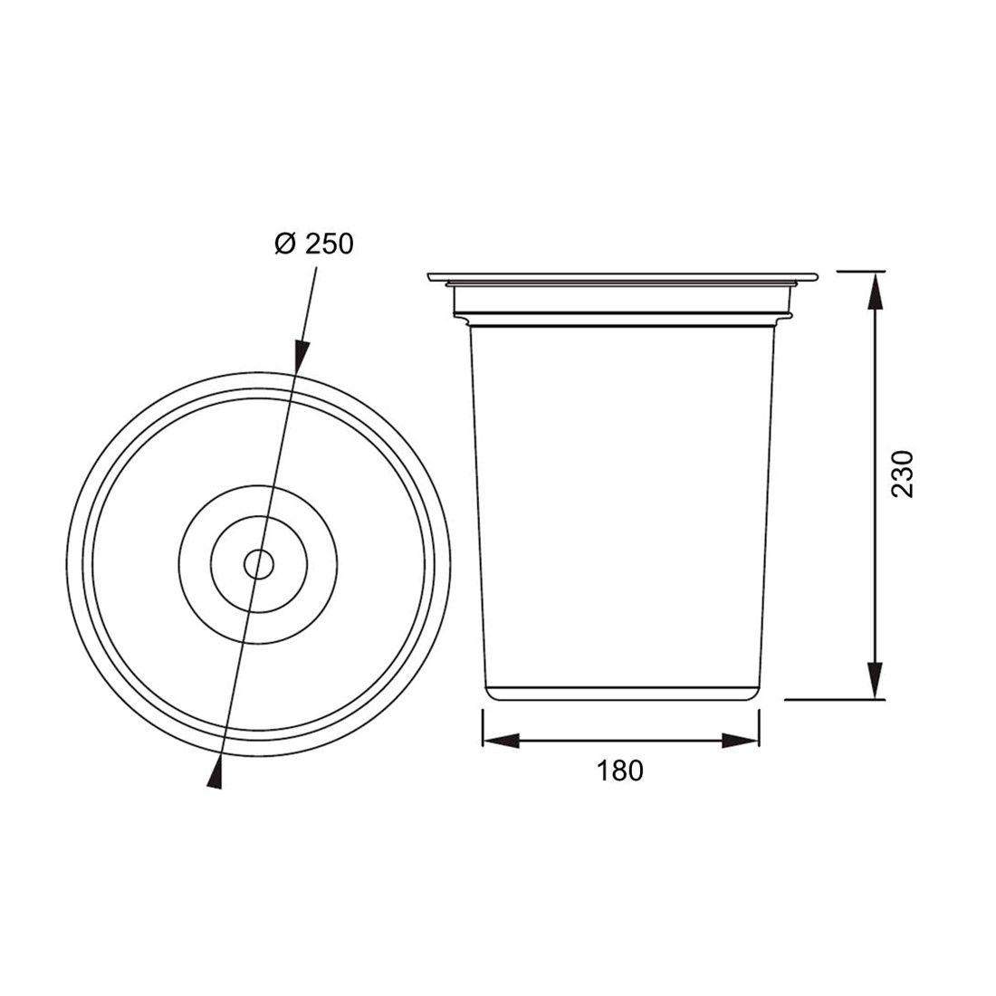 Lixeira de Embutir Franke 5 litros  - DOTEC SHOP