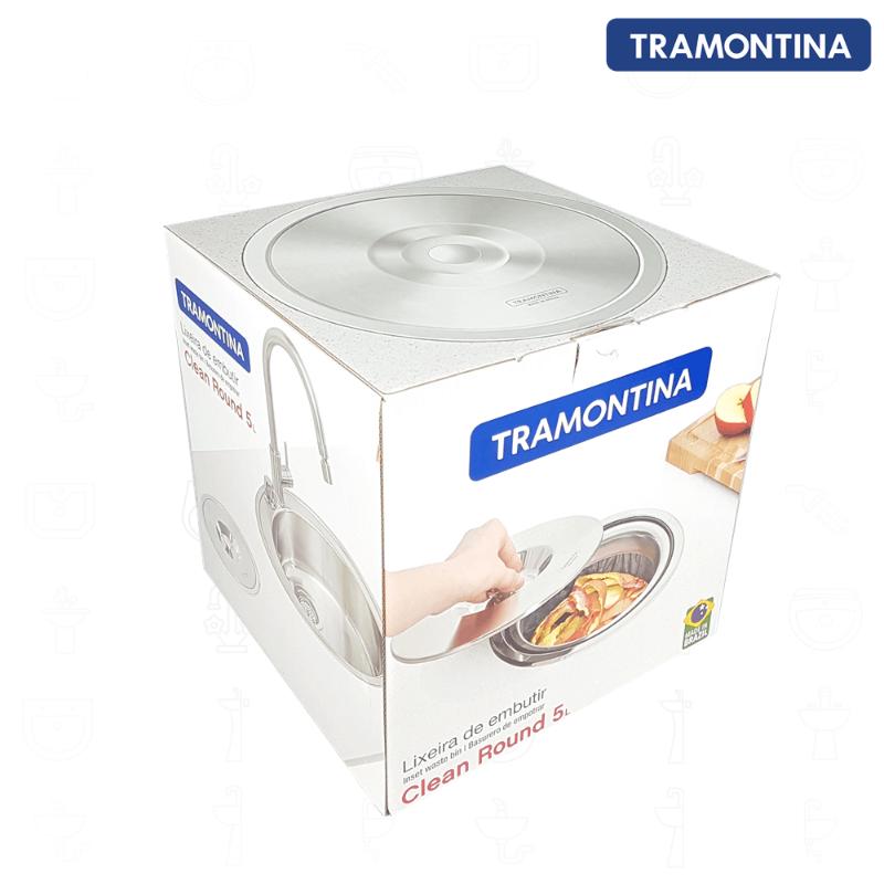 Lixeira de Embutir Tramontina 5 litros  - DOTEC SHOP