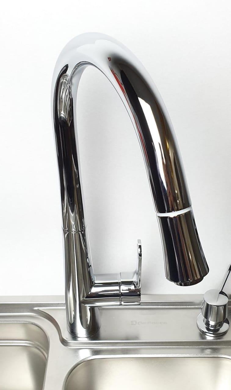 Misturador Monocomando Cromado Com Extensor  - DOTEC SHOP
