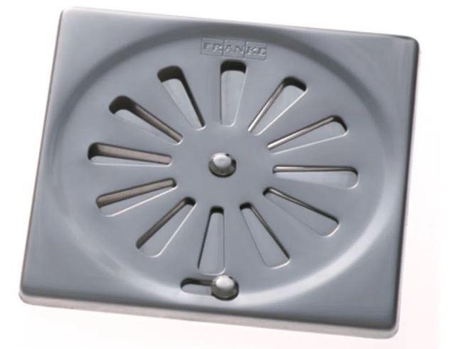 Ralo em Inox quadrado 10 x 10 Sistema Abre e Fecha - Franke  - DOTEC SHOP