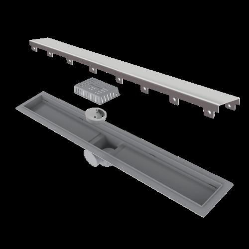 Ralo Linear Smart Tampa Em Inox 60cm Elleve  - DOTEC SHOP