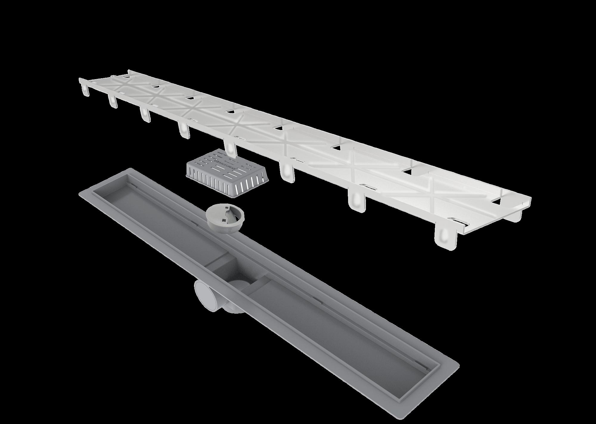 Ralo Linear Smart Tampa Oculta 60cm Elleve  - DOTEC SHOP